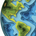 topographical image of globe