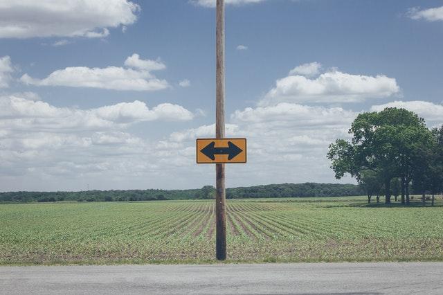 Road sign arrows